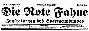 Die Rote Fahne - Image: Rote Fahne 1918