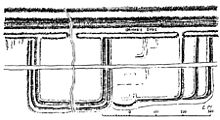 diagram of Roman fort in wall