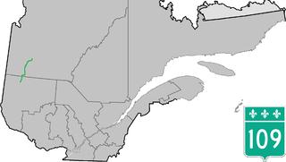 Quebec Route 109 highway in Quebec