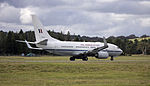 Royal Australian Air Force (A36-002) Boeing 737-7DF BBJ on the main runway at the Canberra Airport (3).jpg
