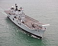 Royal Navy Aircraft Carrier HMS Illustrious Returns To Portsmouth Folllowing Refit MOD 45152939.jpg