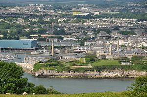 Royal William Victualling Yard - The Royal William Victualling Yard seen from Mount Edgcumbe