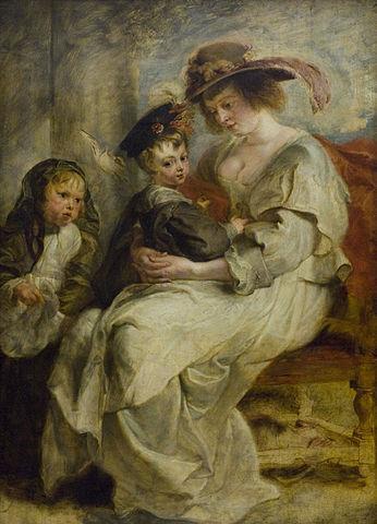 Елена Фоурмен с детьми. Около 1636 года, 115 × 85 см. Париж, Лувр