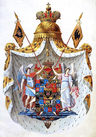 Coat of arms of Russia - Image: Russian Empire Full coat of arms.3