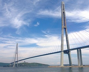Russky Bridge - Russky Bridge after completion in July 2012