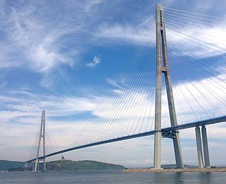 Russky Island - Russky Bridge from Russky Island to mainland Vladivostok