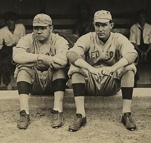 Shutouts in baseball - Ernie Shore (on the right next to Babe Ruth) earned a shutout without starting the game or pitching a complete game.