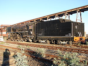 South African type JT tender - Type JT tender on Class 16E, 18 September 2015