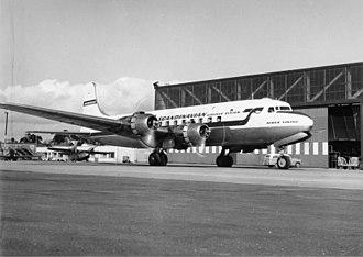 1961 Ndola United Nations DC-6 crash - Swedish DC-6, similar to the lost aircraft, 1960s