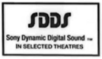 Sony Dynamic Digital Sound - Original logo, used on the first several SDDS releases