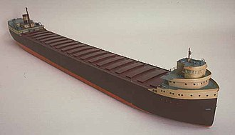 SS Edmund Fitzgerald - A scale model of  SS Edmund Fitzgerald