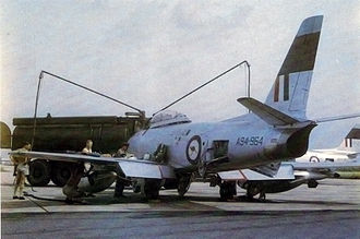 Southeast Asia Treaty Organization - Image: Sabre Mk 32s RAAF in Thailand early 1960s