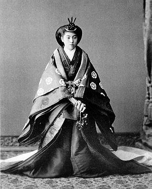 Empress Teimei - Image: Sadako Kujo wedding
