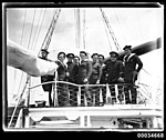 Sailors on board the French warship BELLATRIX in Sydney, 1930-1932 (7633876930).jpg