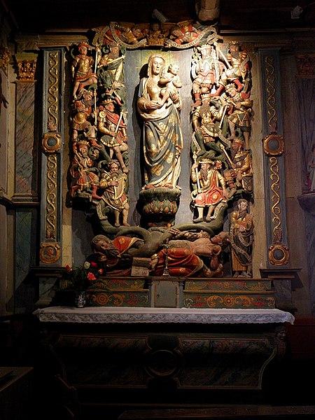 Arbre de Jessé de l'église Saint-Aignan, commune de Saint-Aignan (56).