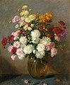 Salomon Garf - A flower still life with chrysanthemum in a glass bowl.Jpeg