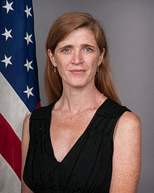 Portrait officiel de Samantha Power, 2013.