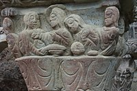 Capital of the cloister: last supper