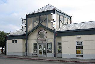 Bus and railway station in San Rafael, California