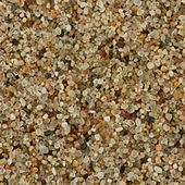 multicolor grains of sand in a centimeter sample
