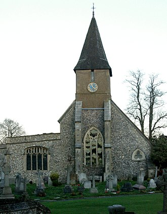 Sanderstead - The Grade I listed All Saints' Church, Sanderstead