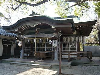Sankō Shrine - The haiden or prayer hall