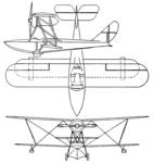 Savoia Marchetti S-56 3-view Aero Digest June 1929.png