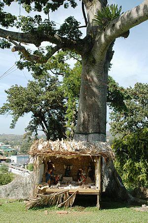 Culture of Trinidad and Tobago - Nativity scene in Scarborough, Tobago, Trinidad and Tobago.