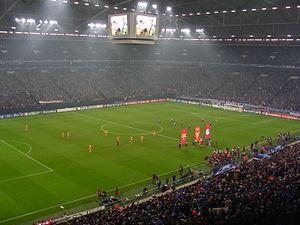 La Liga - Barcelona against Schalke 04 in the 2008 UEFA Champions League