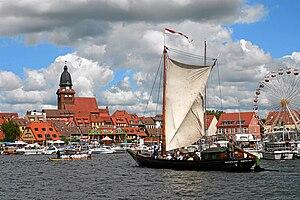 Müritz - Waren harbour during the Müritz Sail week