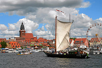 Müritz - Waren harbour during the Müritz Sail week