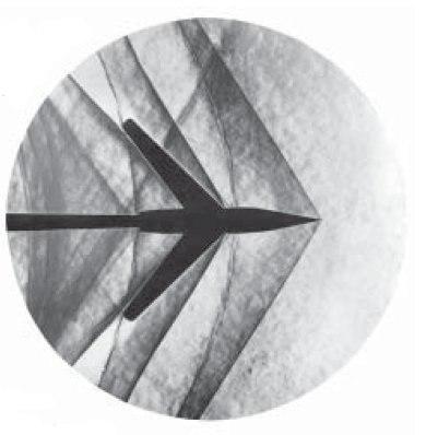 Schlierenfoto Mach 1-2 Pfeilfl%C3%BCgel - NASA