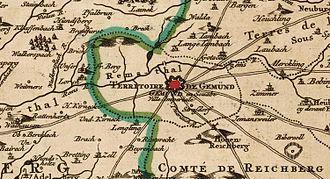 Schwäbisch Gmünd - Territory of Schwäbisch Gmünd, c. 1750