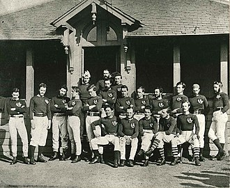 Rugby football - Scotland First Rugby Team wearing brown in 1871 for the 1st international, vs England in Edinburgh, 1871
