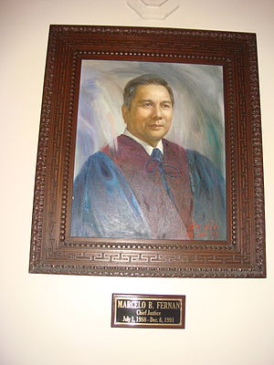 Marcelo Fernan - Official Portraits of CJ Marcelo Fernan in the new SC building.