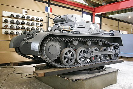 Panzer I tank, now on display in the German Tank Museum, Munster, Germany (2005) SdKfz101.jpg