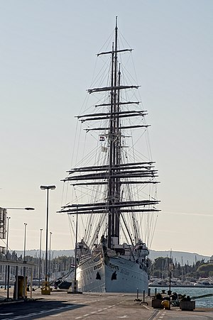 Sea Cloud - Sea Cloud moored in the port of Split, Croatia, on September 30, 2011