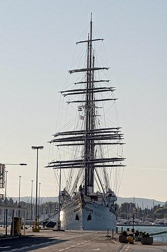 Sea Cloud - Sea Cloud moored in the port of Split, Croatia, on September 30, 2011