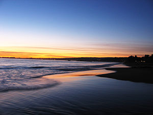 Aptos, California - Sunset at Seacliff State Beach in Aptos, California.