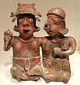 Seated Joined Couple, 200-300 AD, Nayarit, Nayarit, Mexico, ceramic and pigment - Art Institute of Chicago - DSC00305.JPG