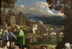 The Raising of Lazarus (Sebastiano del Piombo) - The landscape