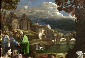 The Raising of Lazarus (Sebastiano del Piombo) - The landscape