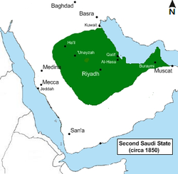 Location of Arab Saudi