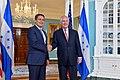 Secretary Tillerson Hosts Honduran President Juan Orlando Hernandez at the State Department (33420471702).jpg