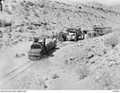 Senussi Cave narrow gauge railway near Tobruk, Lybia, AWM No 020394