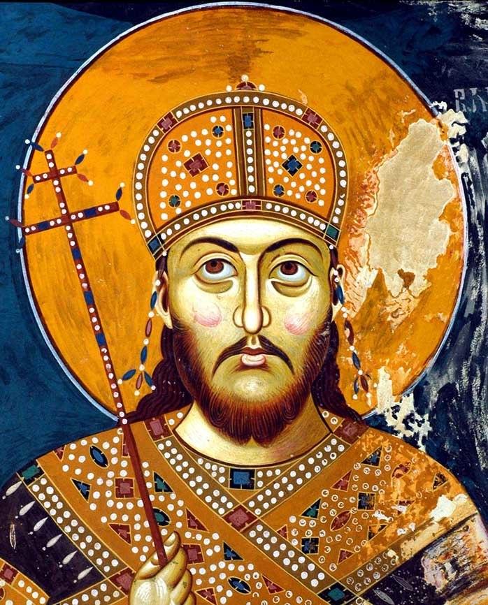 Serbian Emperor Stefan Dušan, cropped