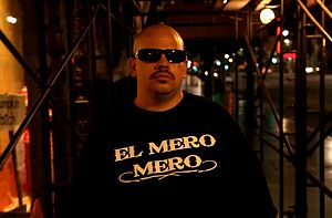 "Serio (rapper) - Serio in Hollywood, CA. during the filming of his music video ""Chicano Rap"" in 2013."