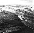 Serpent Tongue Glacier, terminus of valley glacier, with bands of rock on top of the glacier, August 26, 1969 (GLACIERS 7154).jpg
