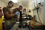 Service members clean weapons DVIDS268250.jpg