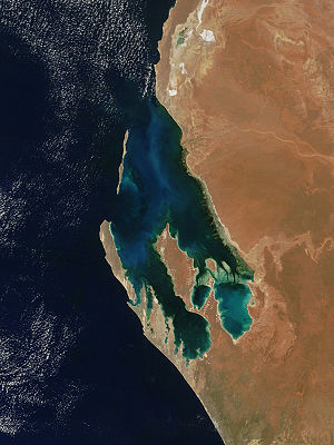 Satellitfoto över Shark Bay